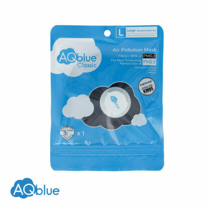 AQblue Black Large package Front