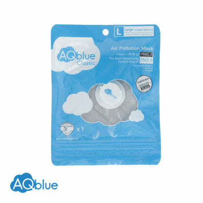 AQblue Grey Large package Front