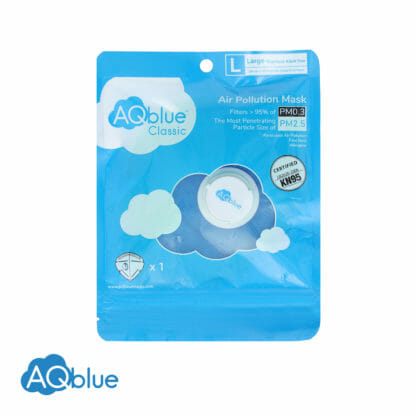 AQblue Light Blue Large package Front