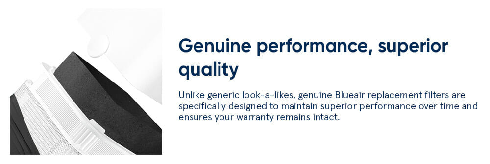 Genuine performance, superior quality - Unlike generic look-a-likes, genuine Blueair replacement filters are specifically designed to maintain superior performance over time and ensures your warranty remains intact.