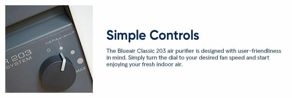 Blueair 203S Simple Controls