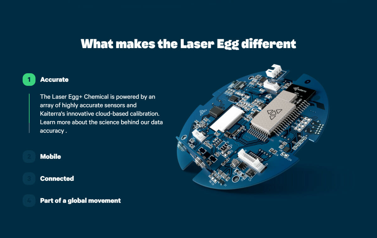 What makes the Laser Egg different: Accurate, Mobile, Connected and Part of a global movement