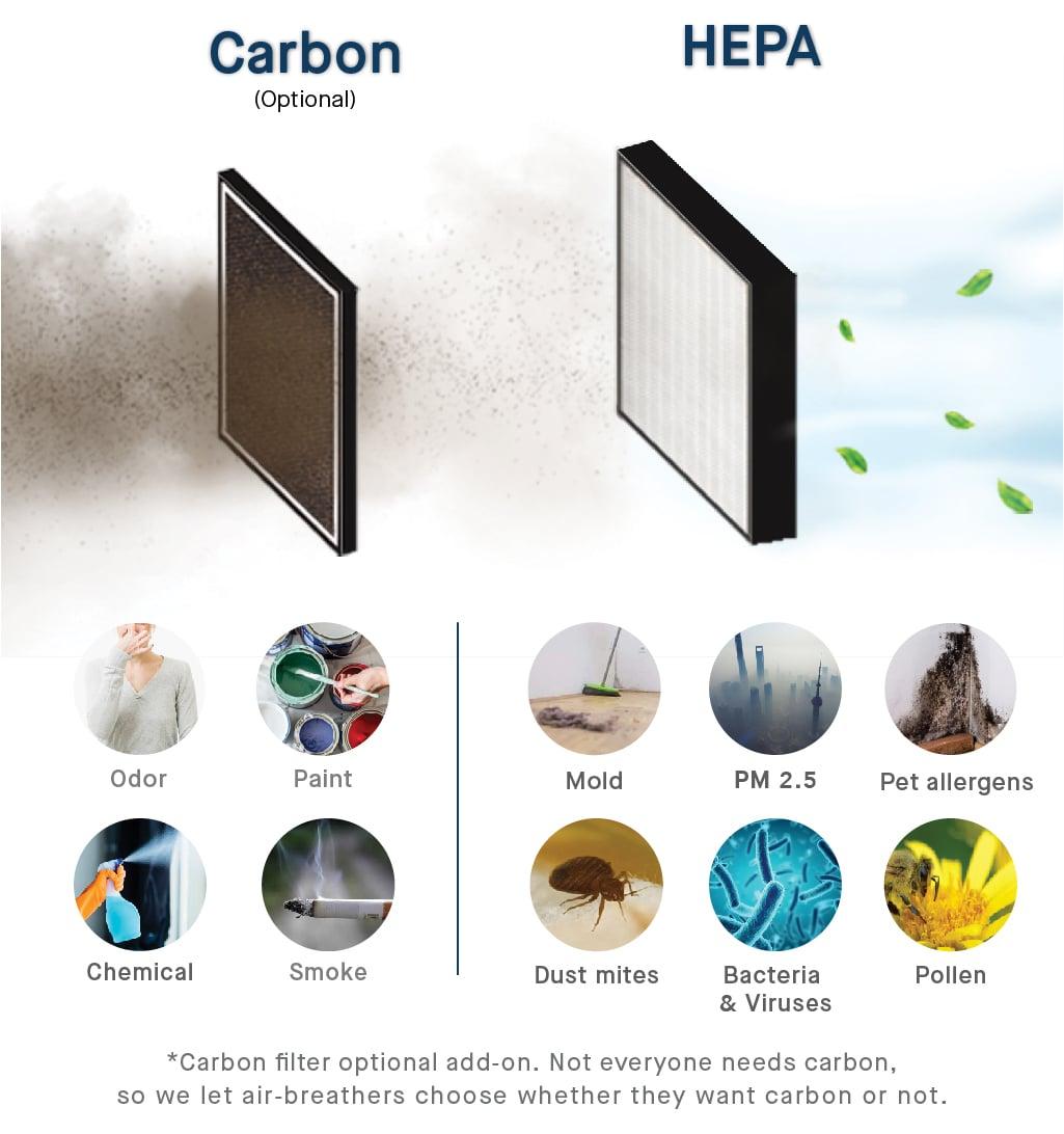 smartair sqair carbon hepa